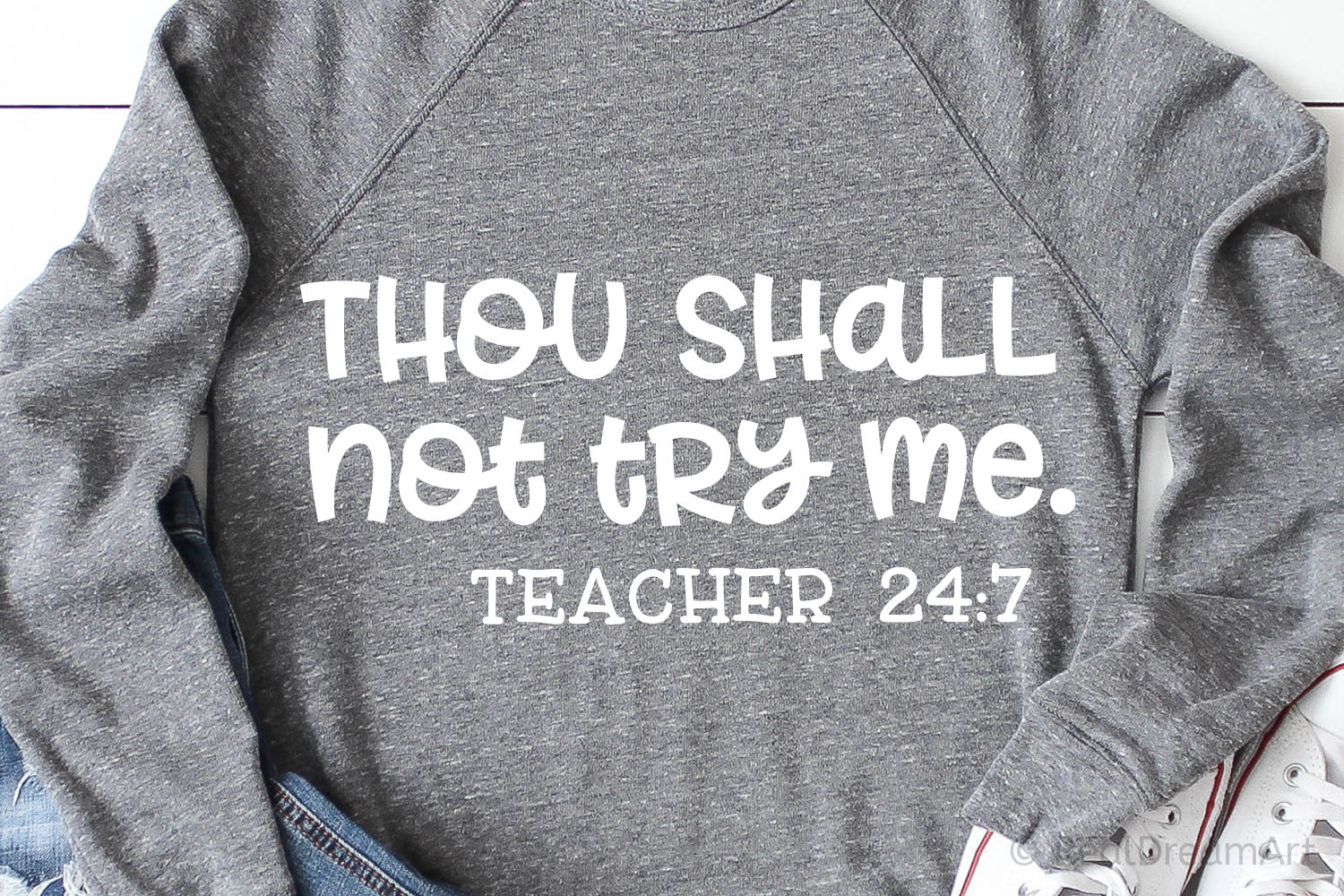 Thou Shall Not Try Me Teacher SVG, DXF, PNG, EPS example image 1