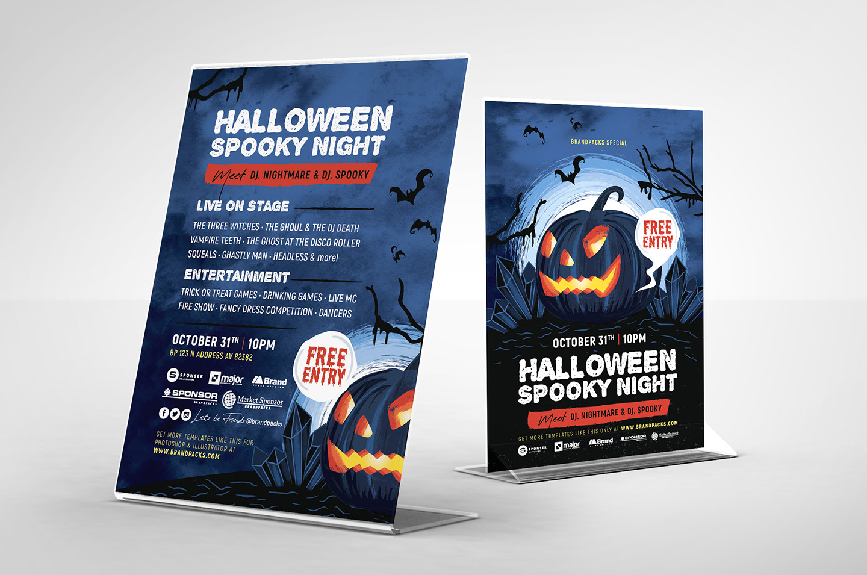 Halloween Flyer Templates example image 4