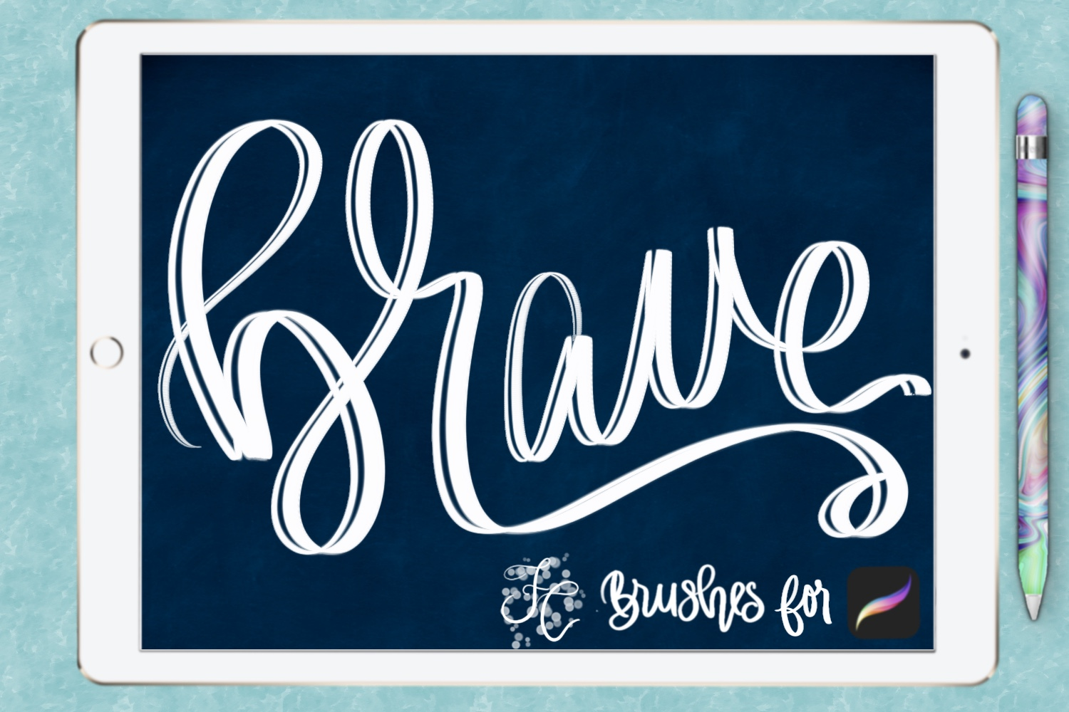 FC-funky lettering set 1 for PROCREATE example image 7