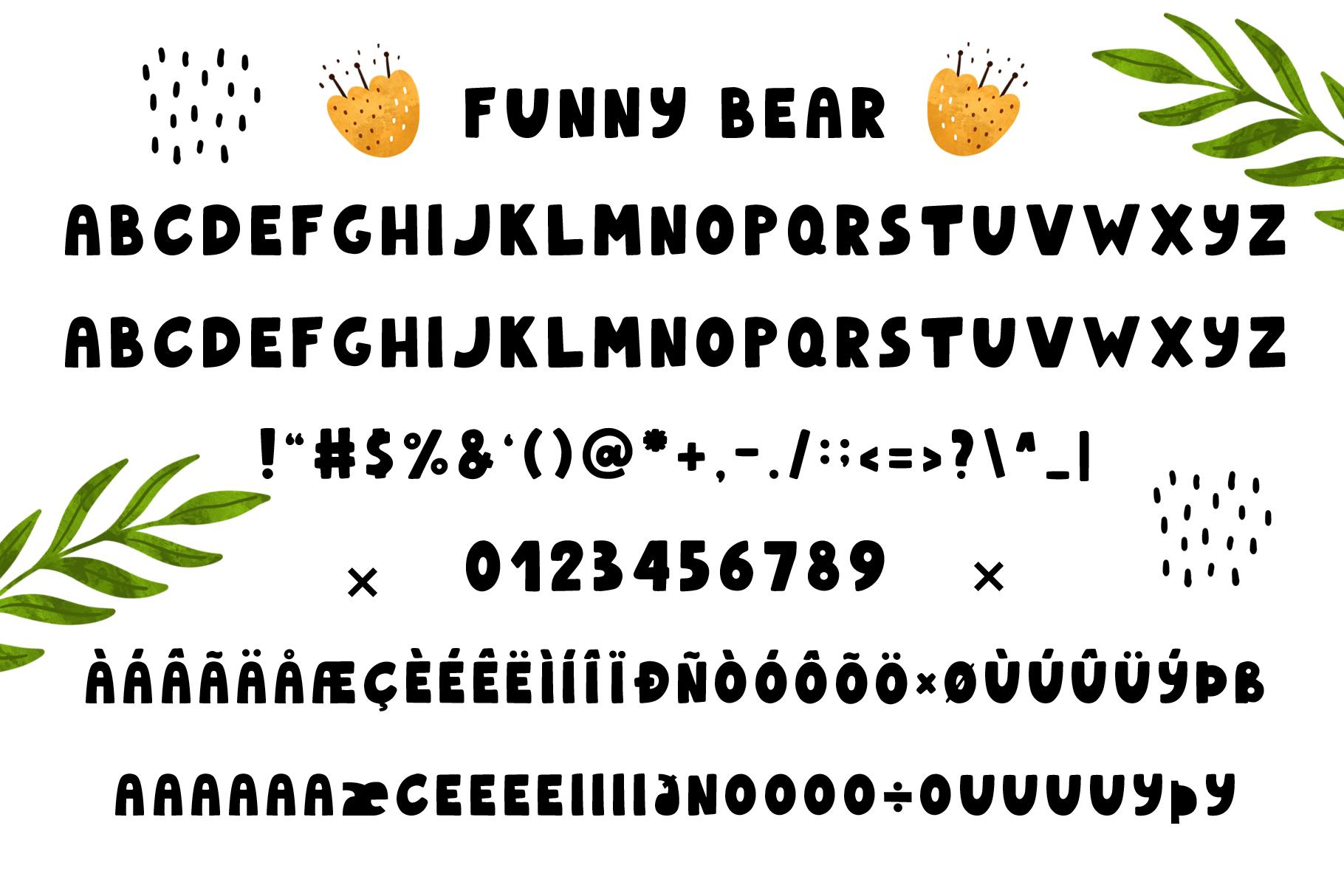 Funnybear & Funnydeer - Duo font example image 3