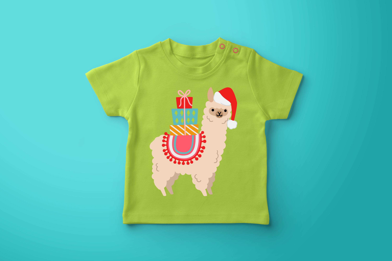 Christmas Alpacas Vector Art example image 5