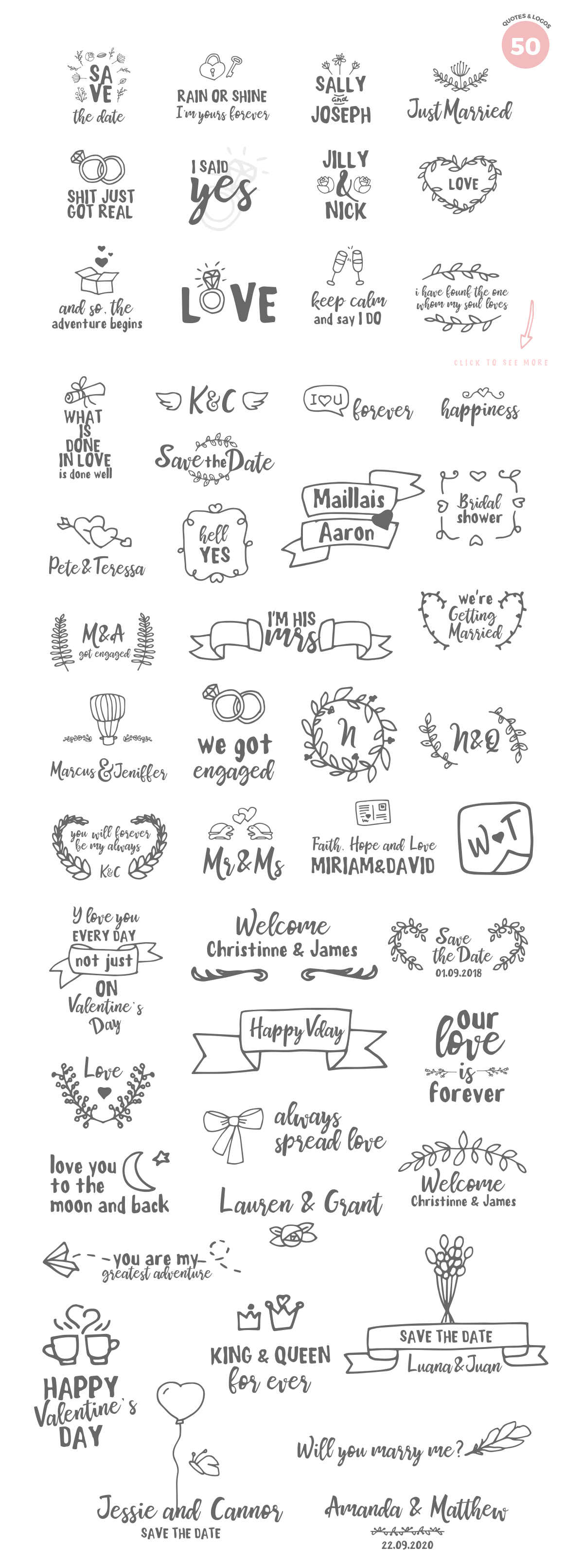 Mrs Maillias Duo Font & Doodles example image 3