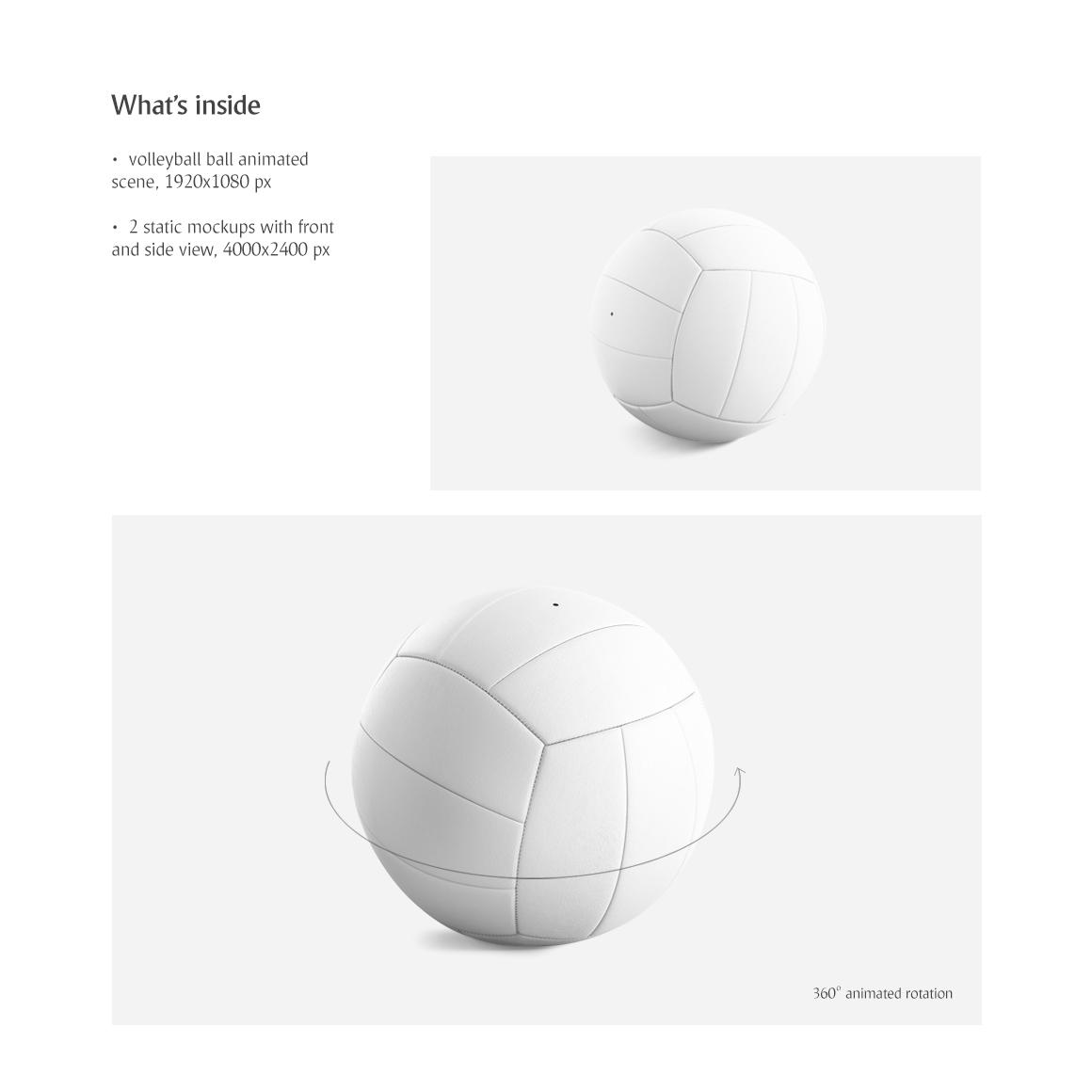 Volleyball Ball Animated Mockup example image 4