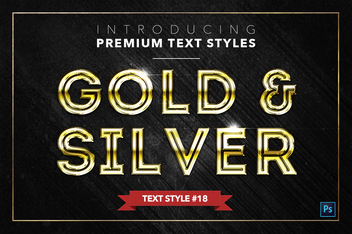 Gold & Silver #2 - 20 Text Styles example image 7