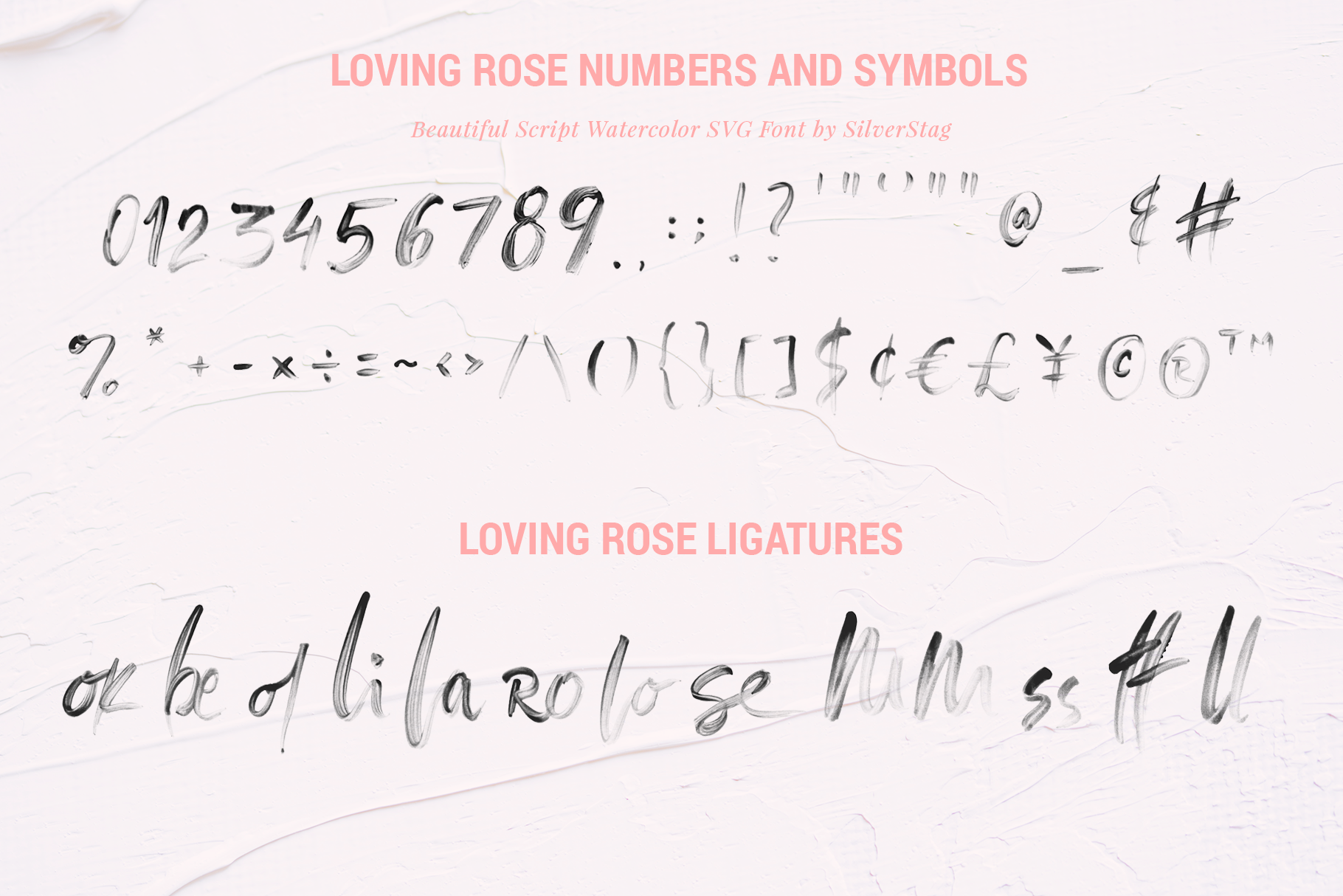 Loving Rose SVG Watercolor Font Pack - Hand Drawn Font example image 11