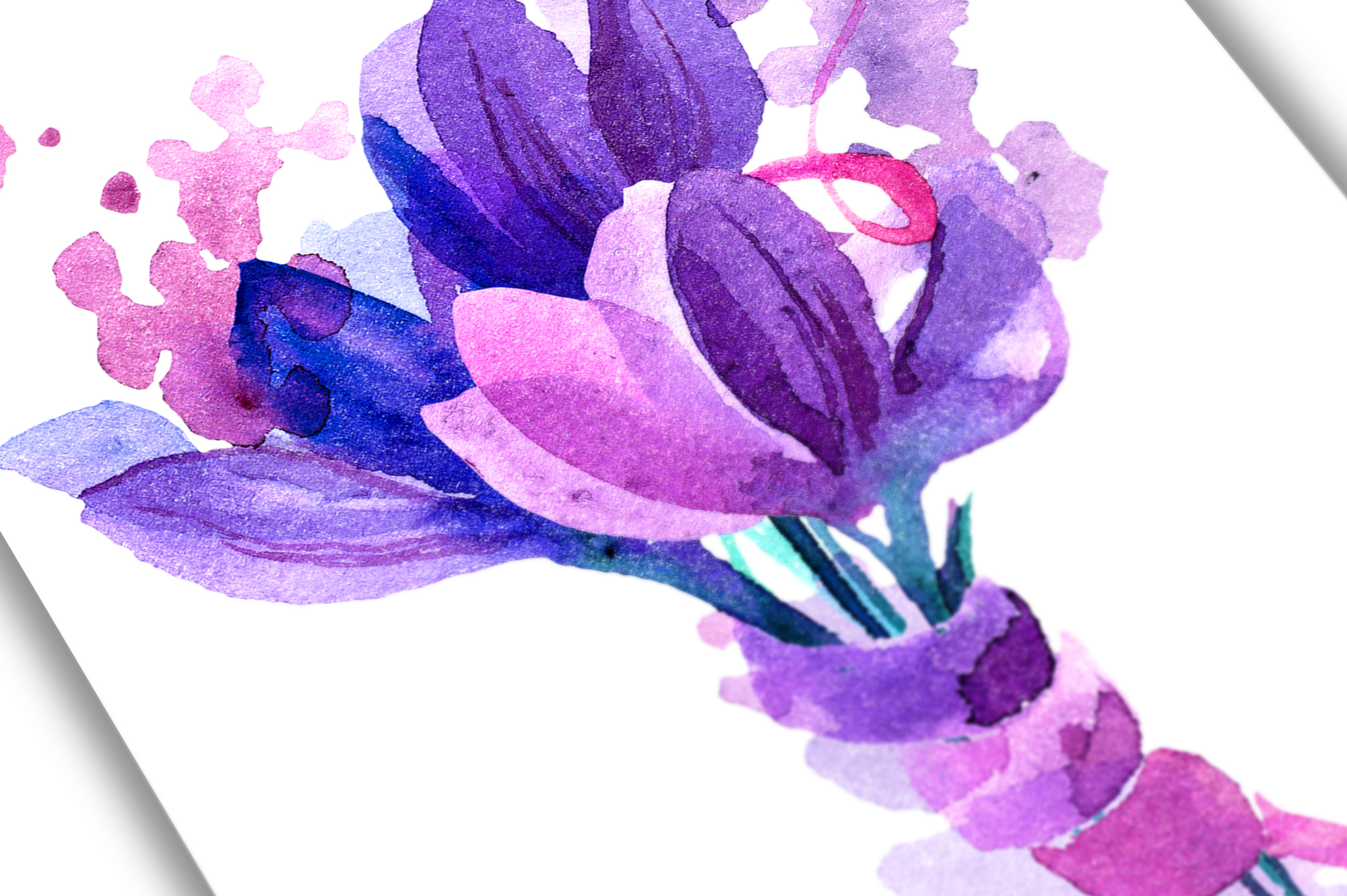 Watercolor crocuses and snowdrops example image 4