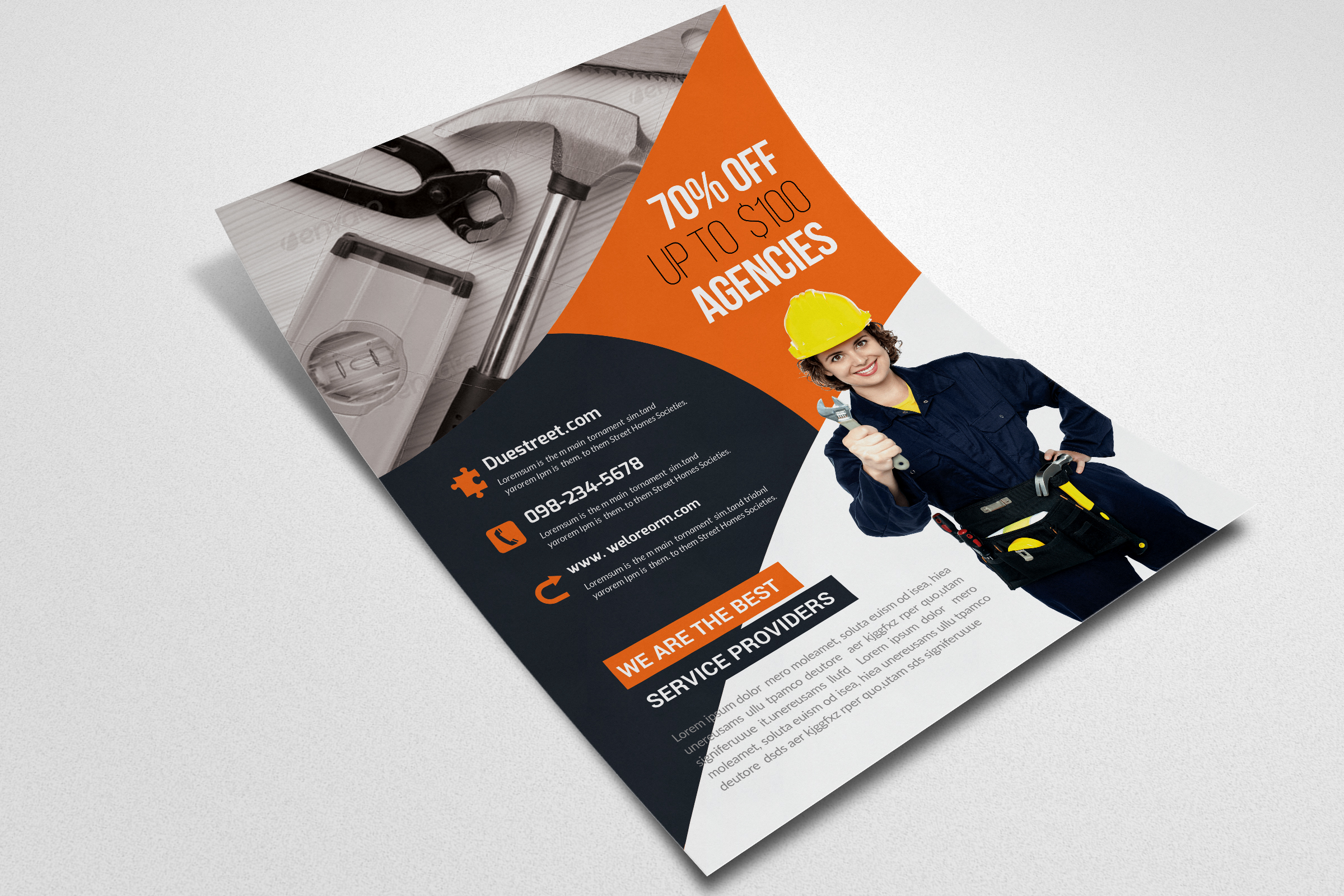 Handyman & Plumber Services Flyer example image 3