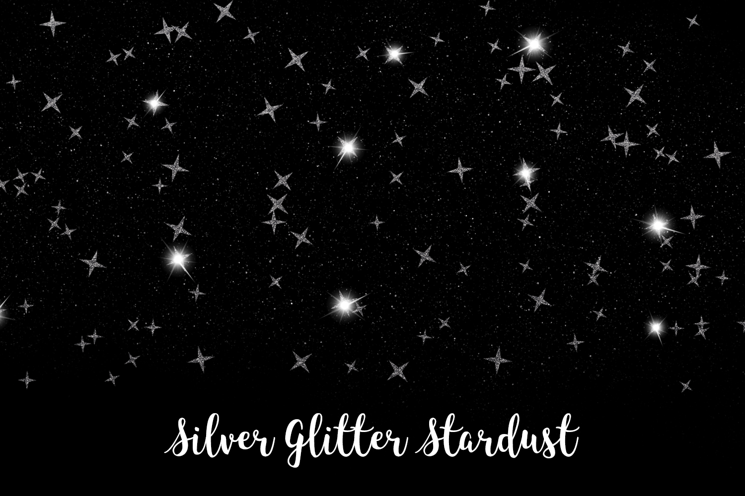 Silver Glitter Stardust, Transparent PNG example image 9