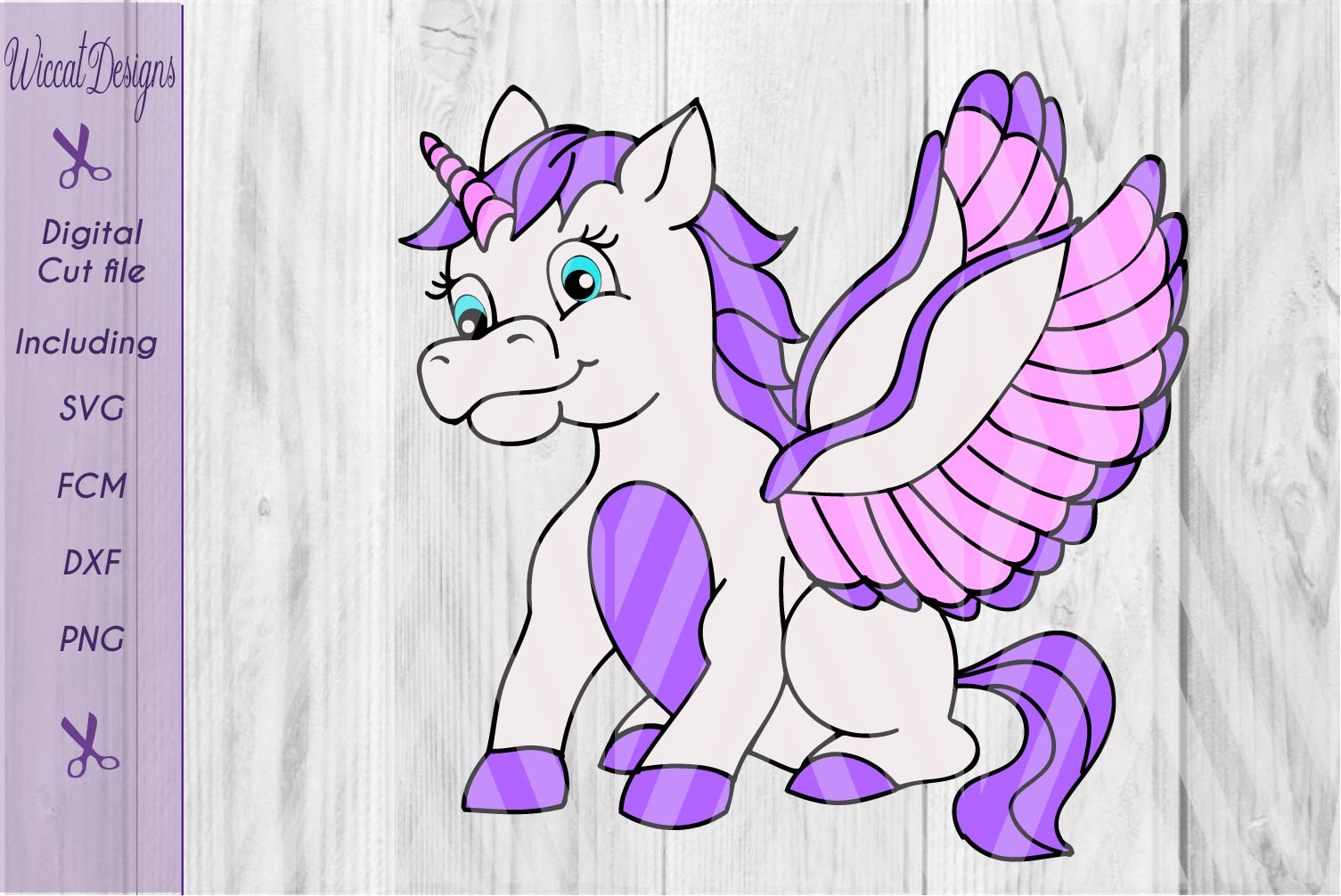 Unicorn with wings, unicorn t shirt design, svg, dxf cut file, scanncut example image 1