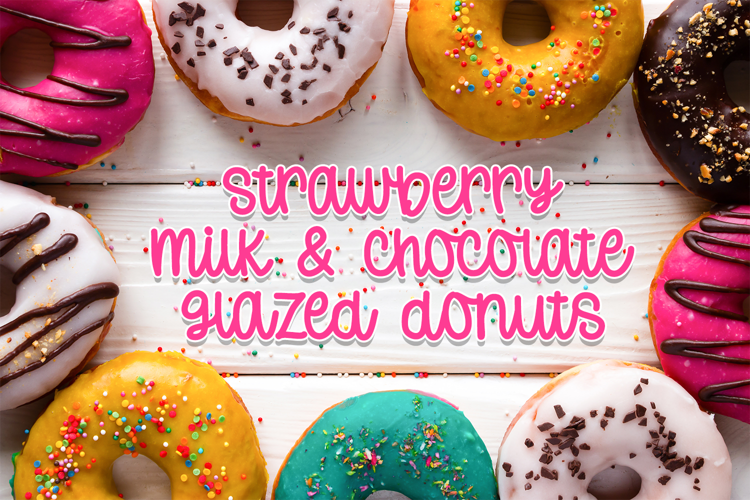 Donut Worry - Hand lettered crafting font example image 2