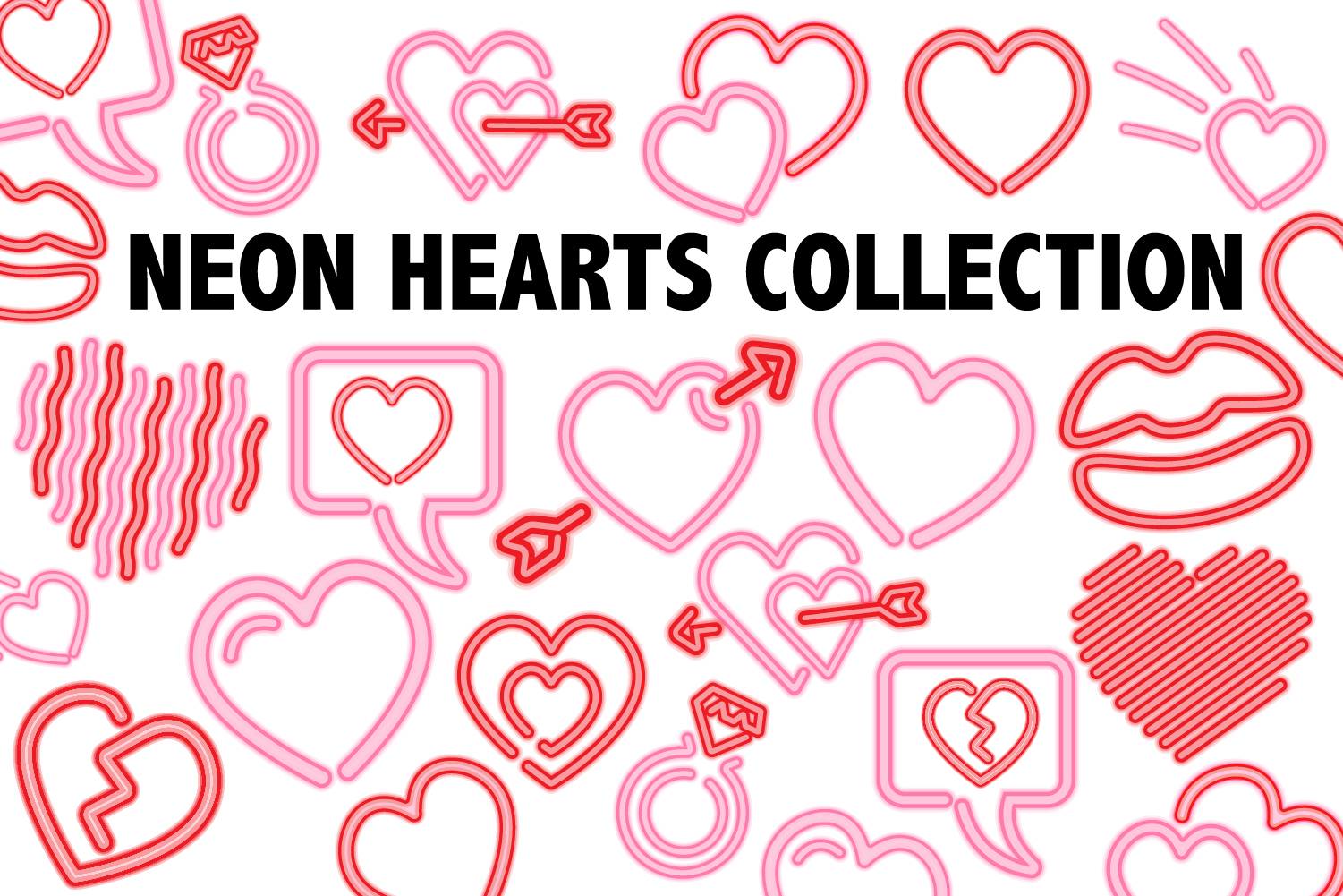 Neon Heart Collection example image 1