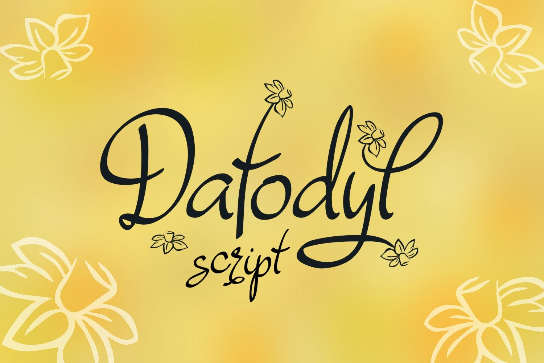 Dafodyl Font example image 1