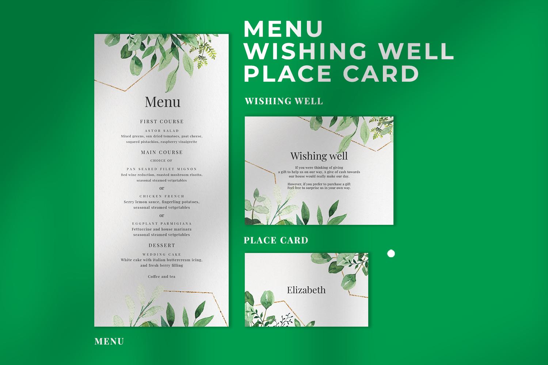 Green Foliage Wedding Suite example image 3