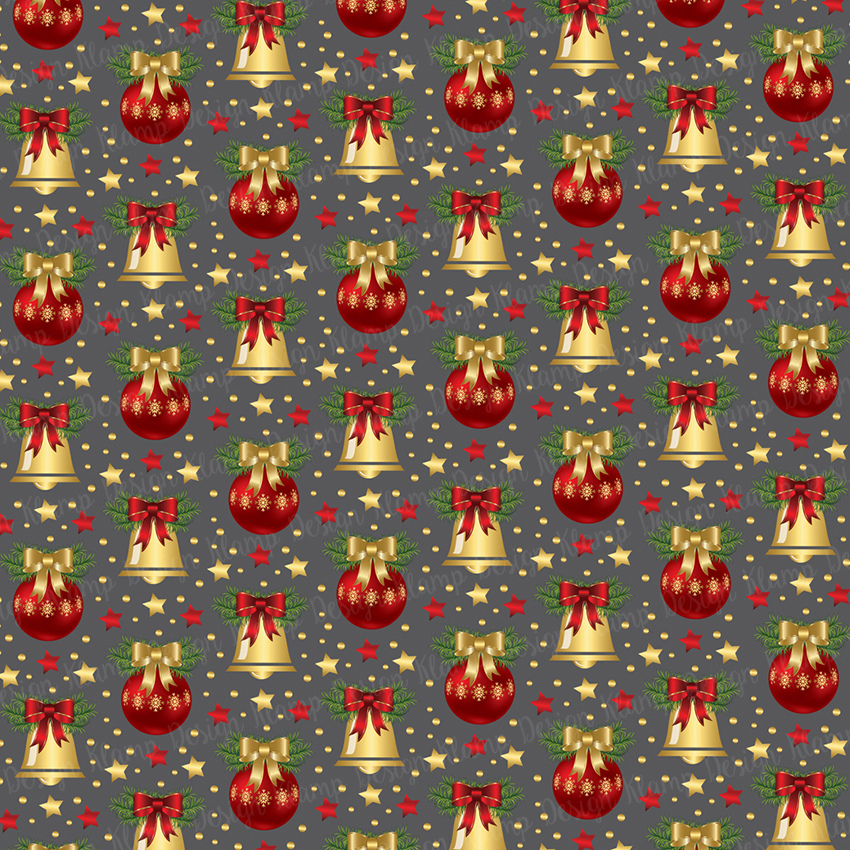 Red and Gold Christmas Digital Paper Pack / Backgrounds / Scrapbooking / Patterns / Printables / Card Making example image 2