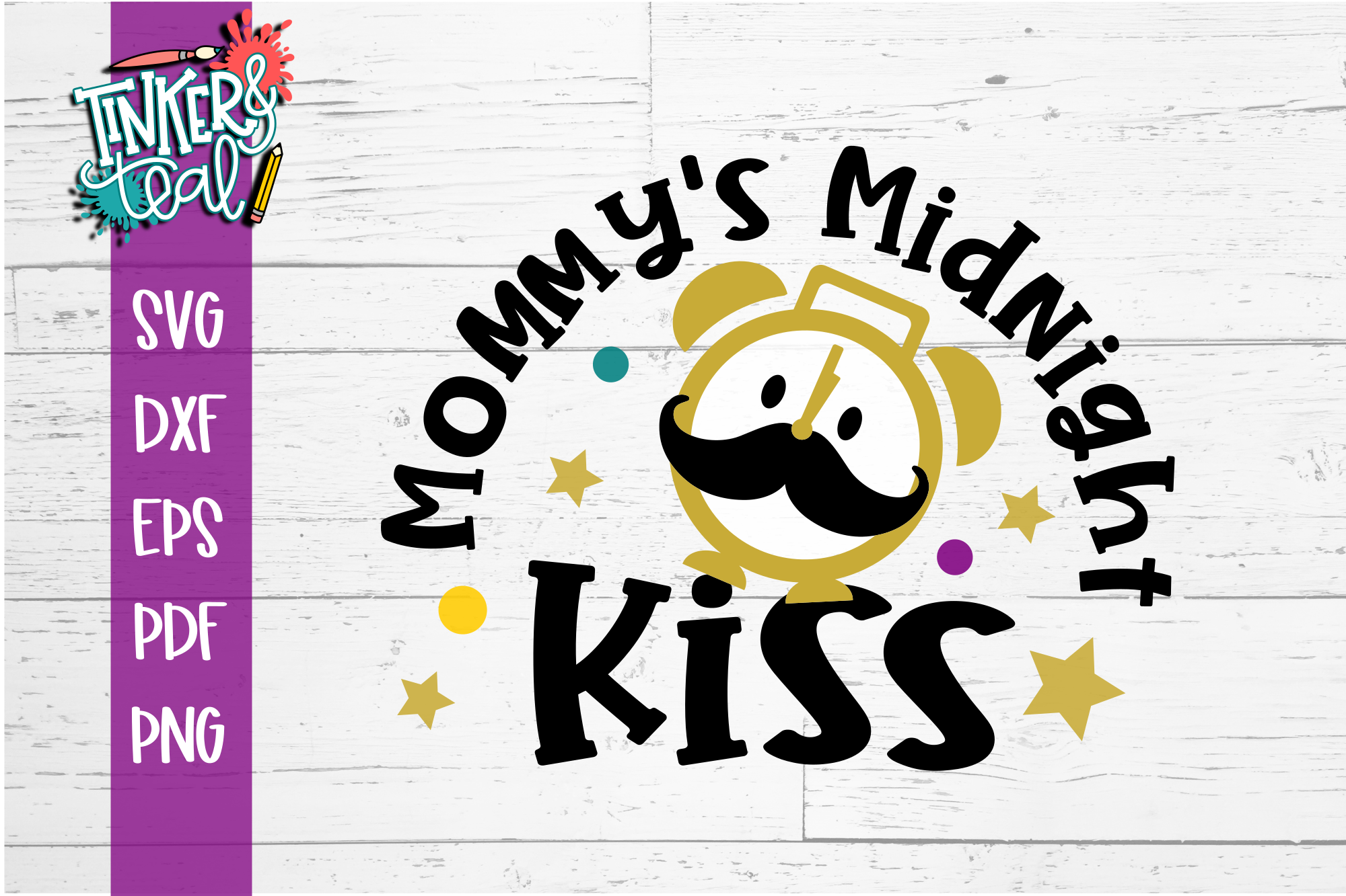 Mommys Midnight Kiss New Years SVG example image 2