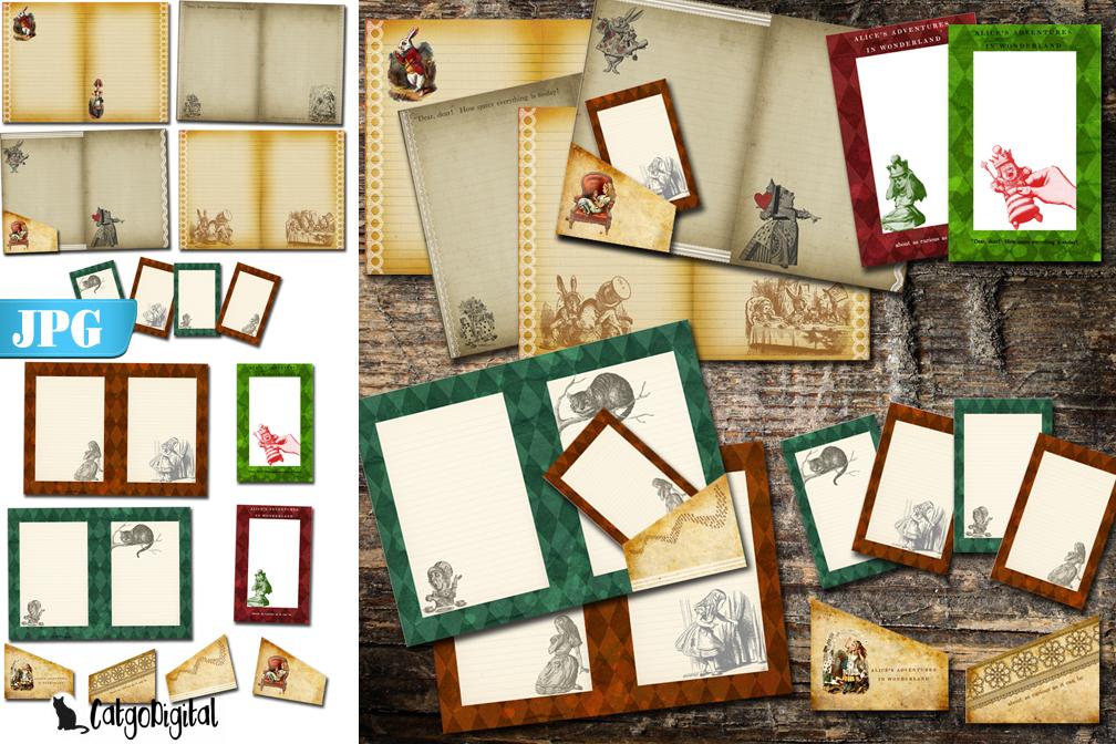 Printable Journal Alice in Wonderland example image 1