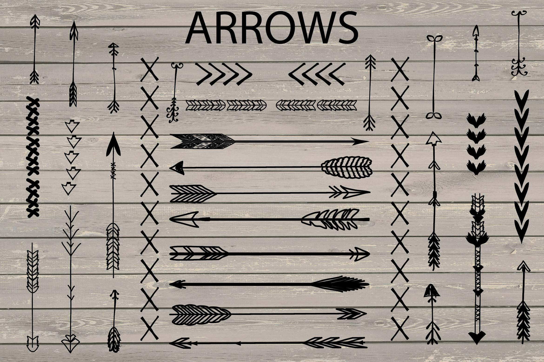 VECTOR Hand Drawn arrows clip arts example image 2