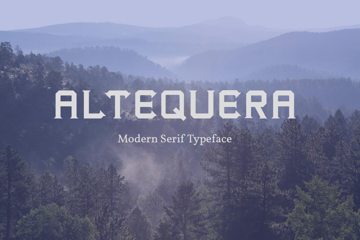 Altequera Typeface example image 1