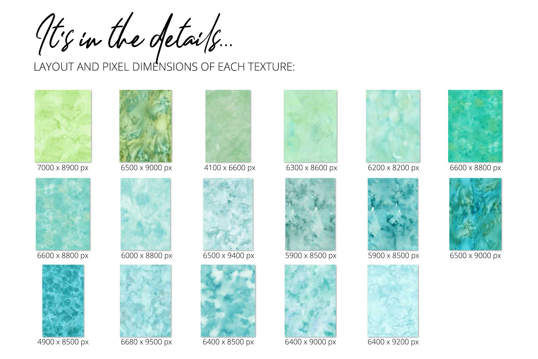 17 Huge Seamless Green Watercolor Textures example image 3