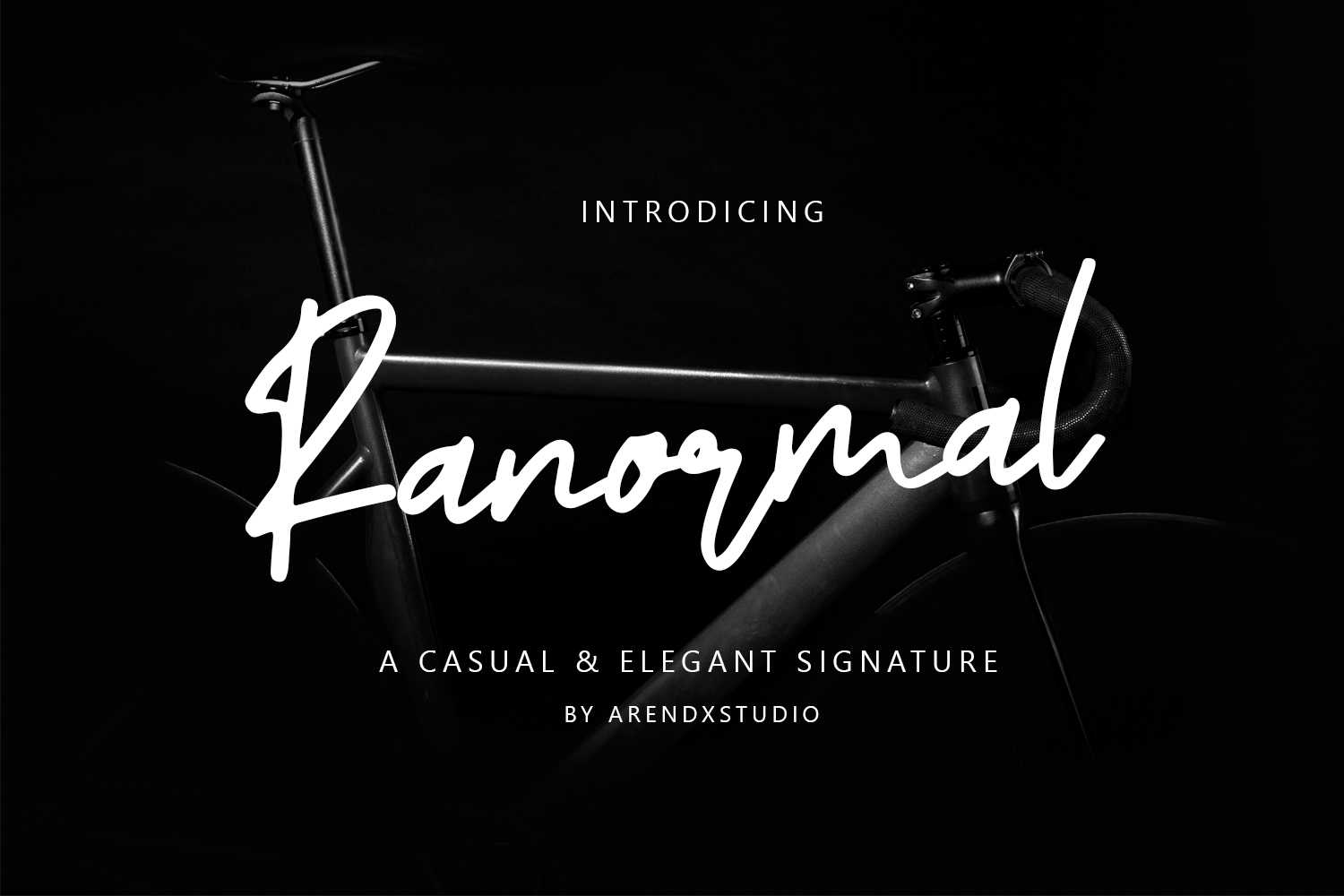 Ranormal Typeface Signature example image 1