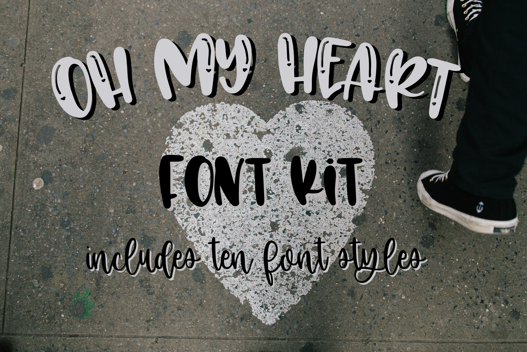 Oh My Heart Font Kit 10 Fonts example image 1