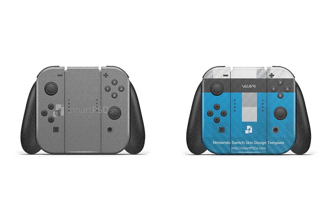 Nintendo Switch Skin Design Template- 7 Views example image 2