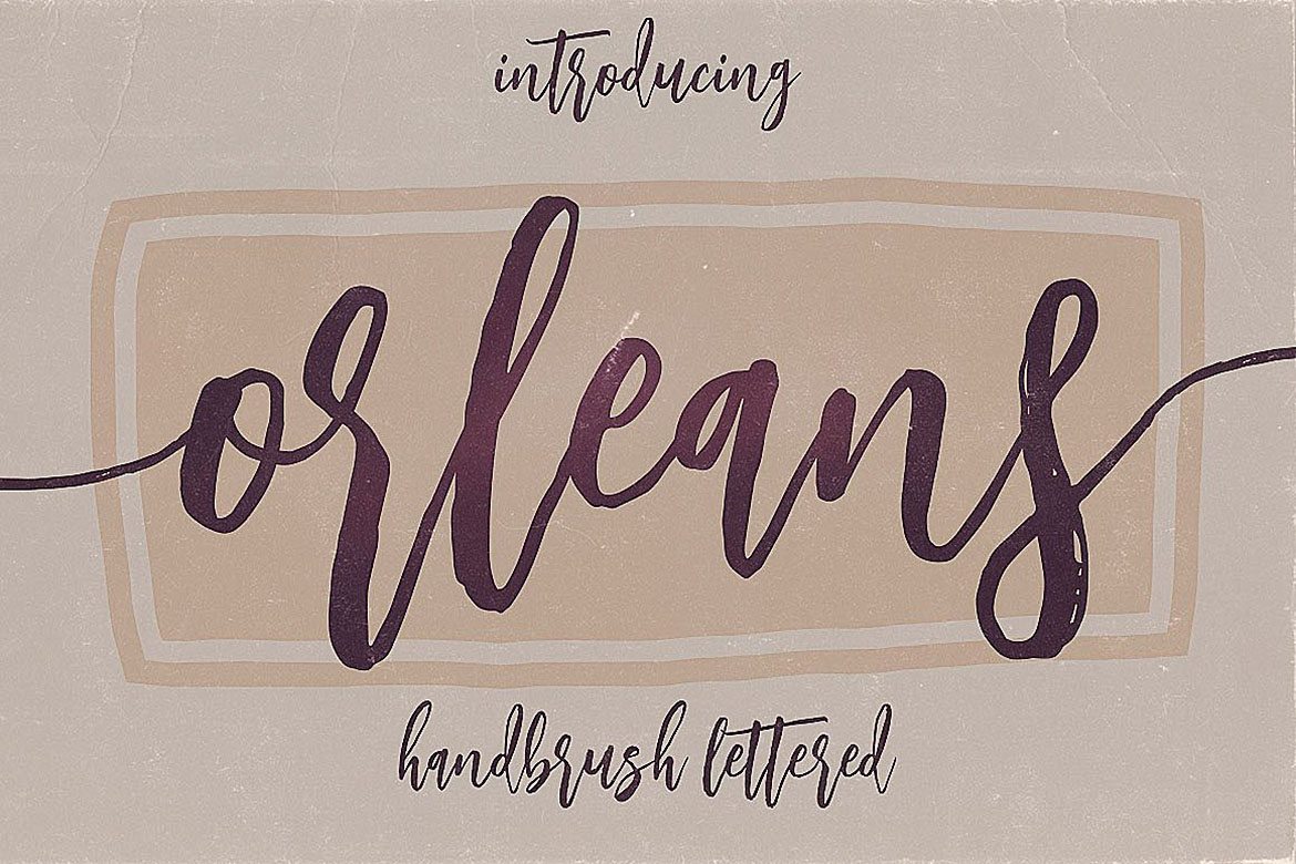 Orleans Script Font Duo example image 6