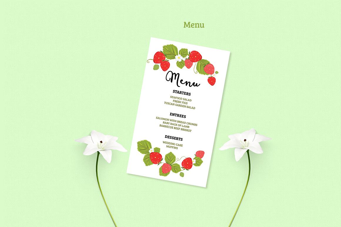 Summer Wedding Invitiation Set example image 6