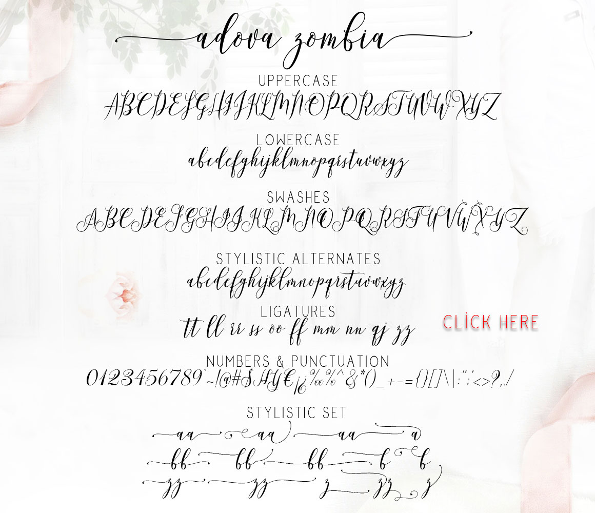 Adova zombia Font Duo example image 10