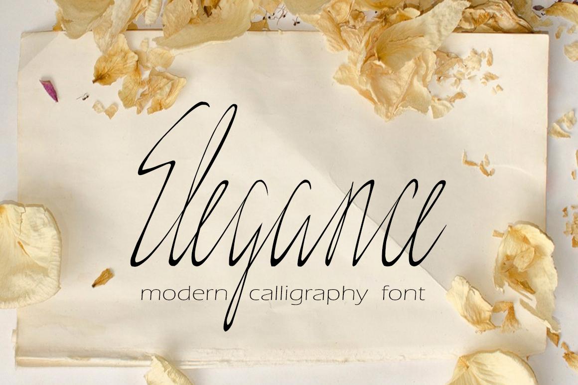 Elegance - delicate script example image 1