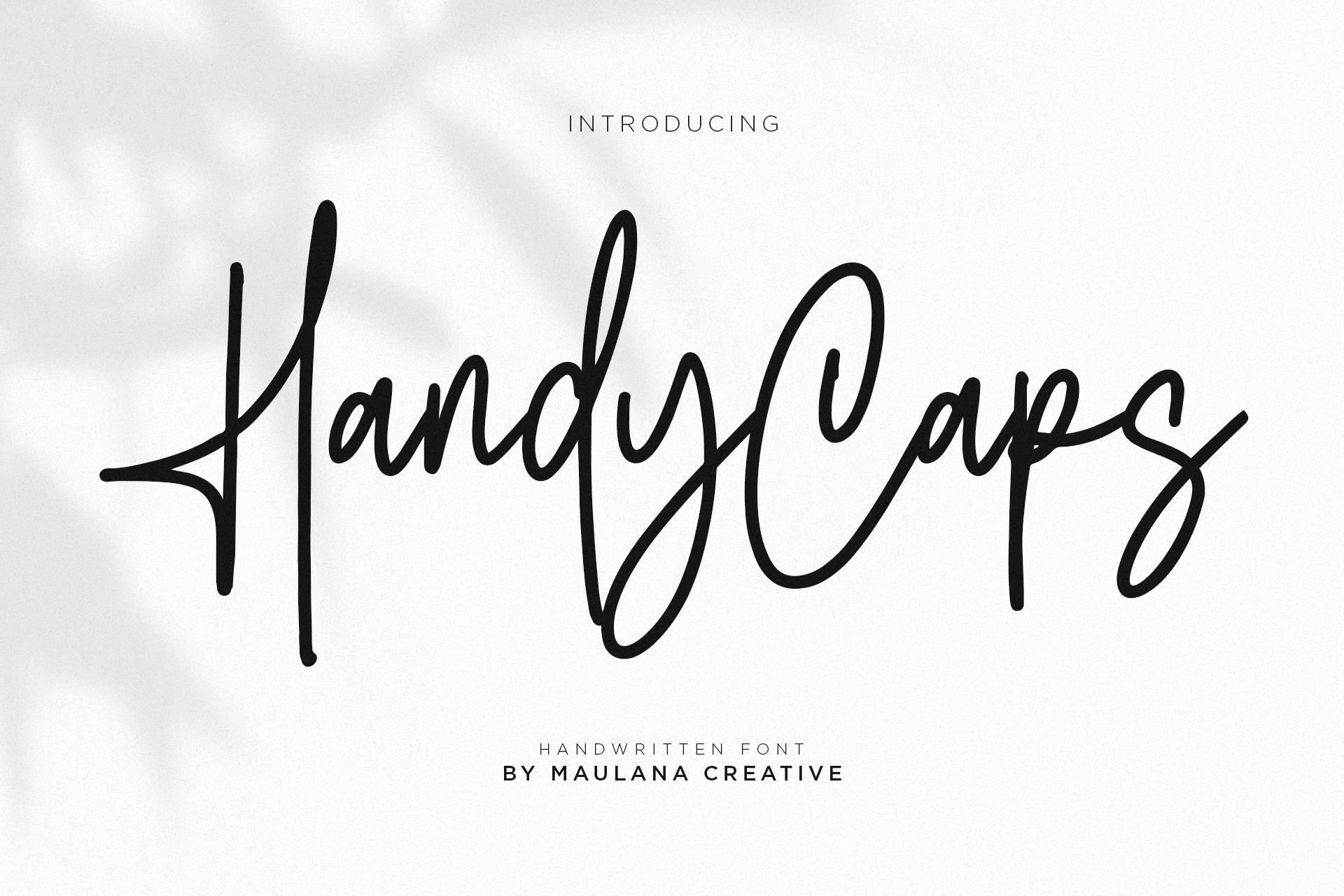 Handycaps Font example image 1