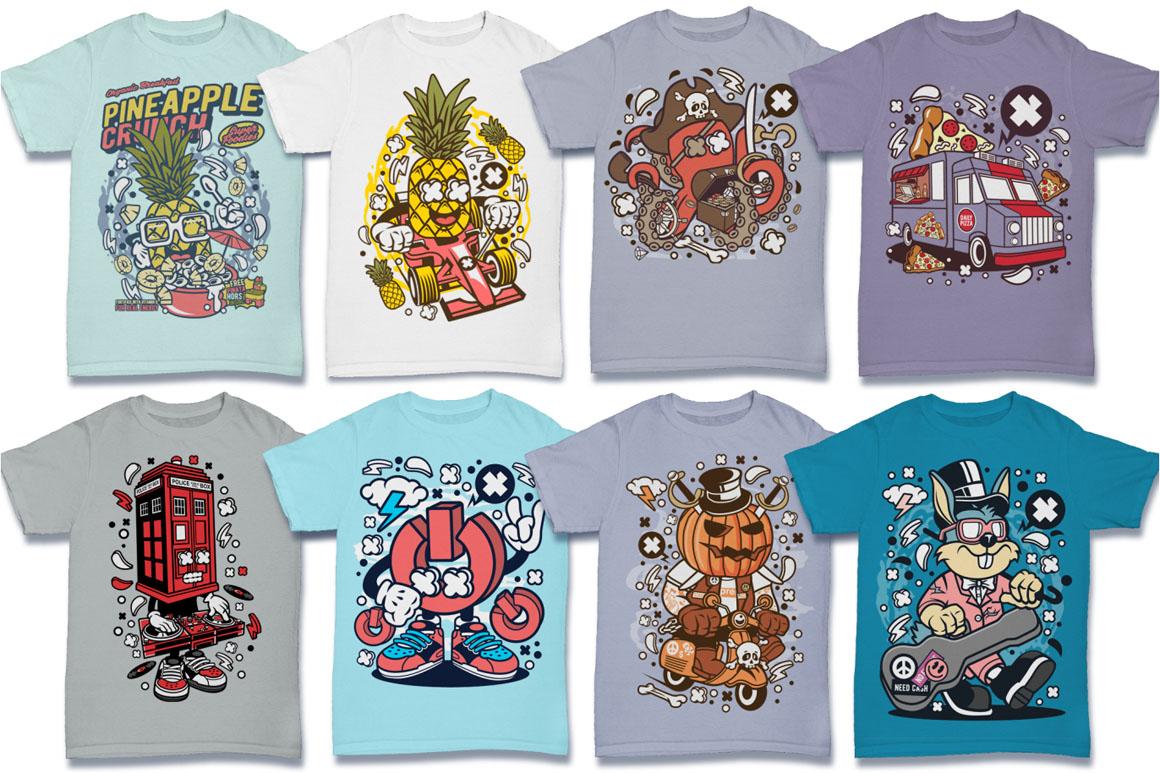 Cartoon Vector #6 Tshirt Design Bundle example image 18