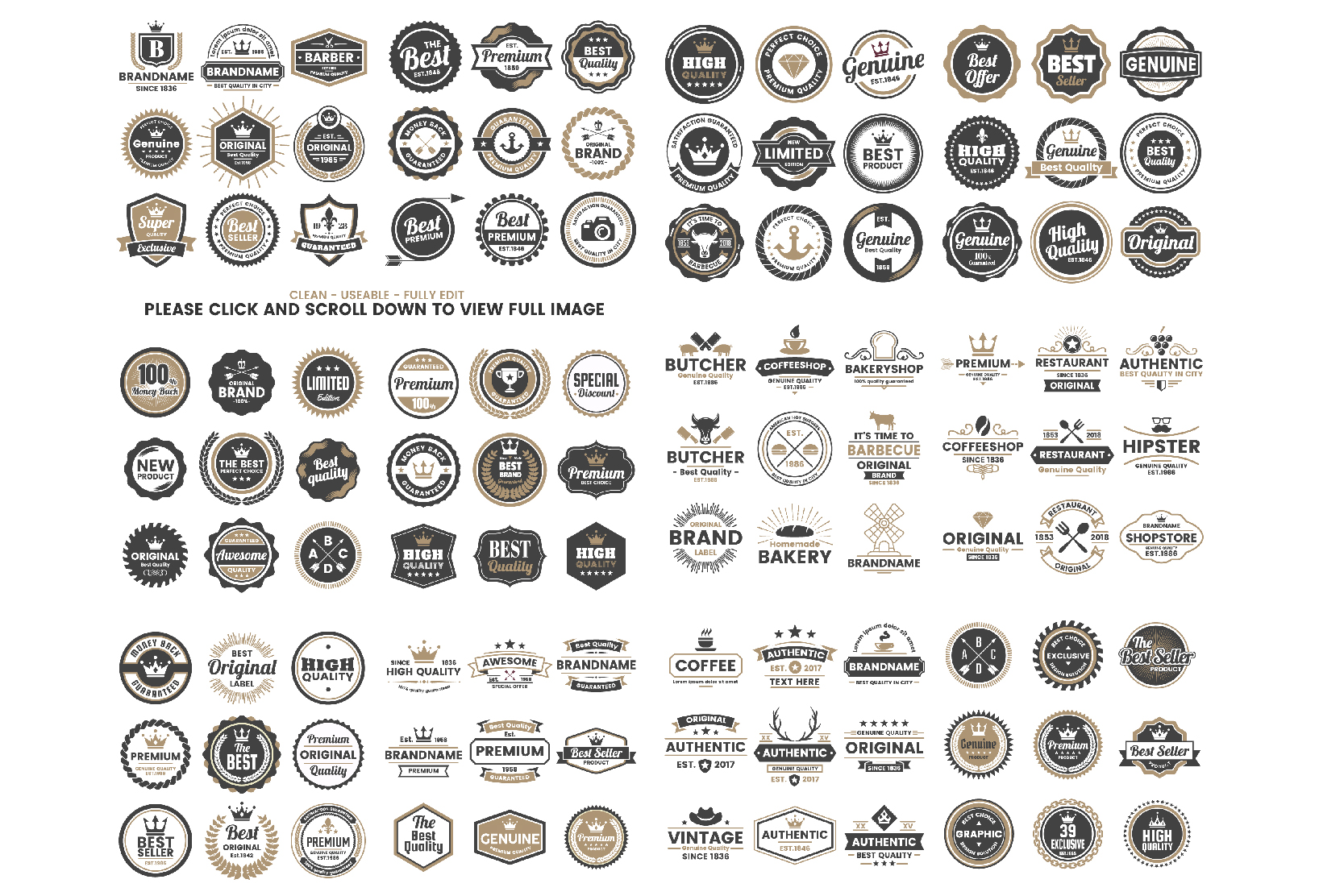 1207 Vintage Badge & Objects Vol.2 example image 3