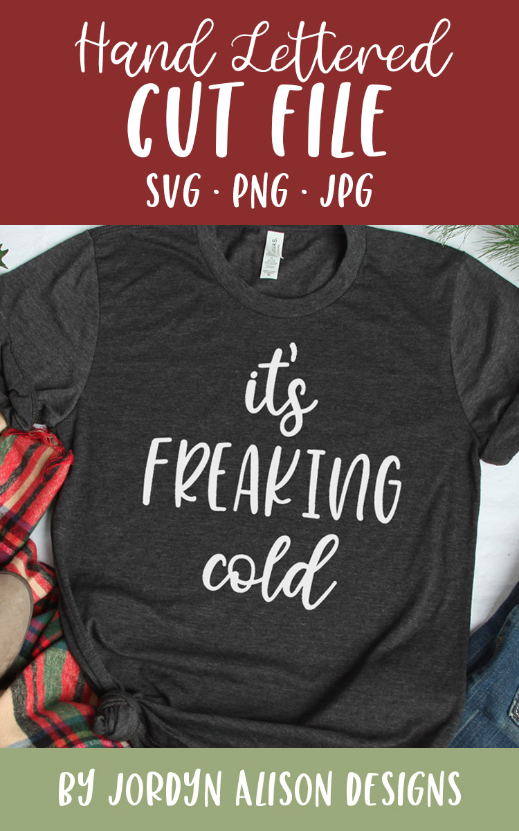 It's Freaking Cold, Christmas Holiday SVG Cut File example image 2