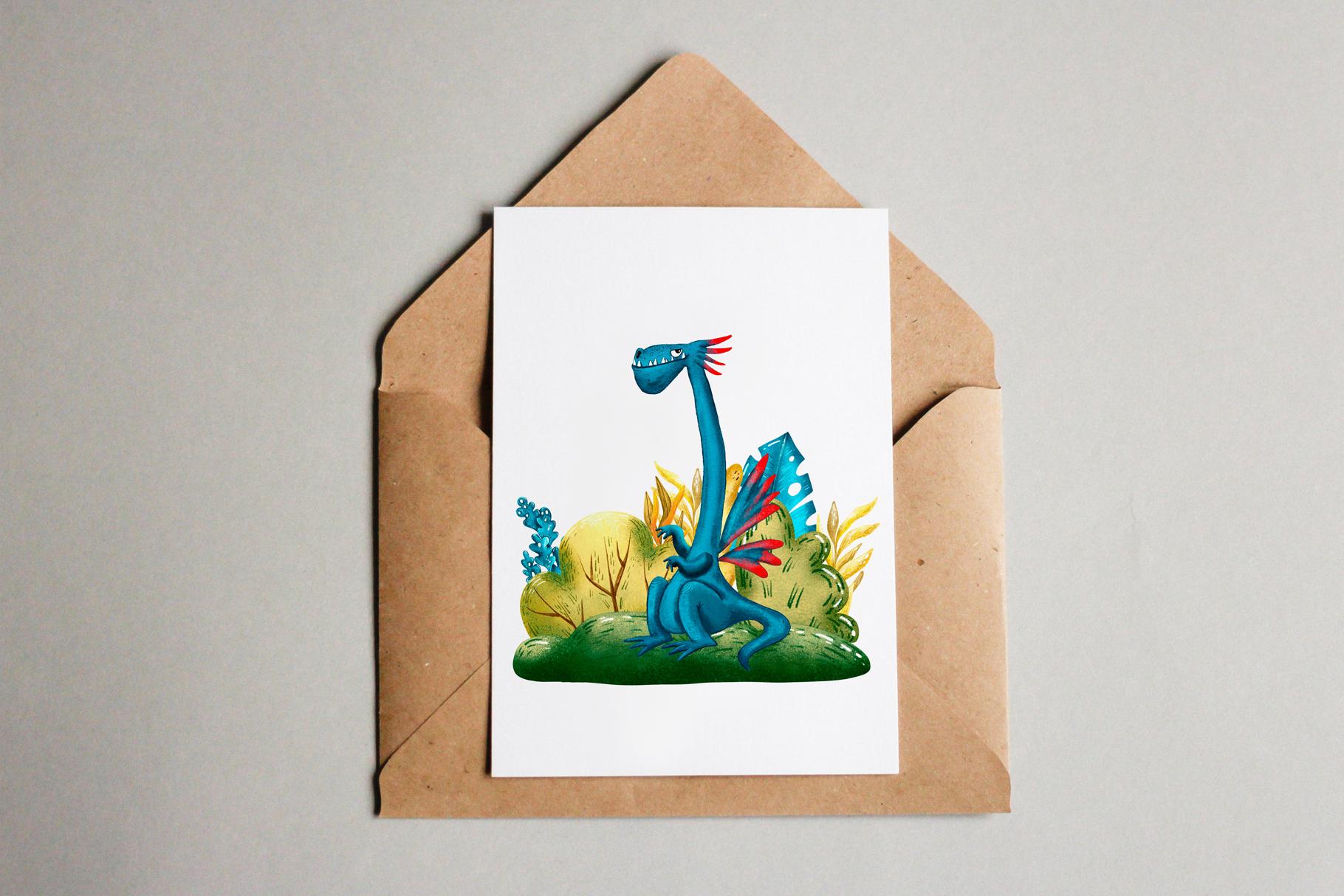 Cute Dragons - Clip Art Set example image 10