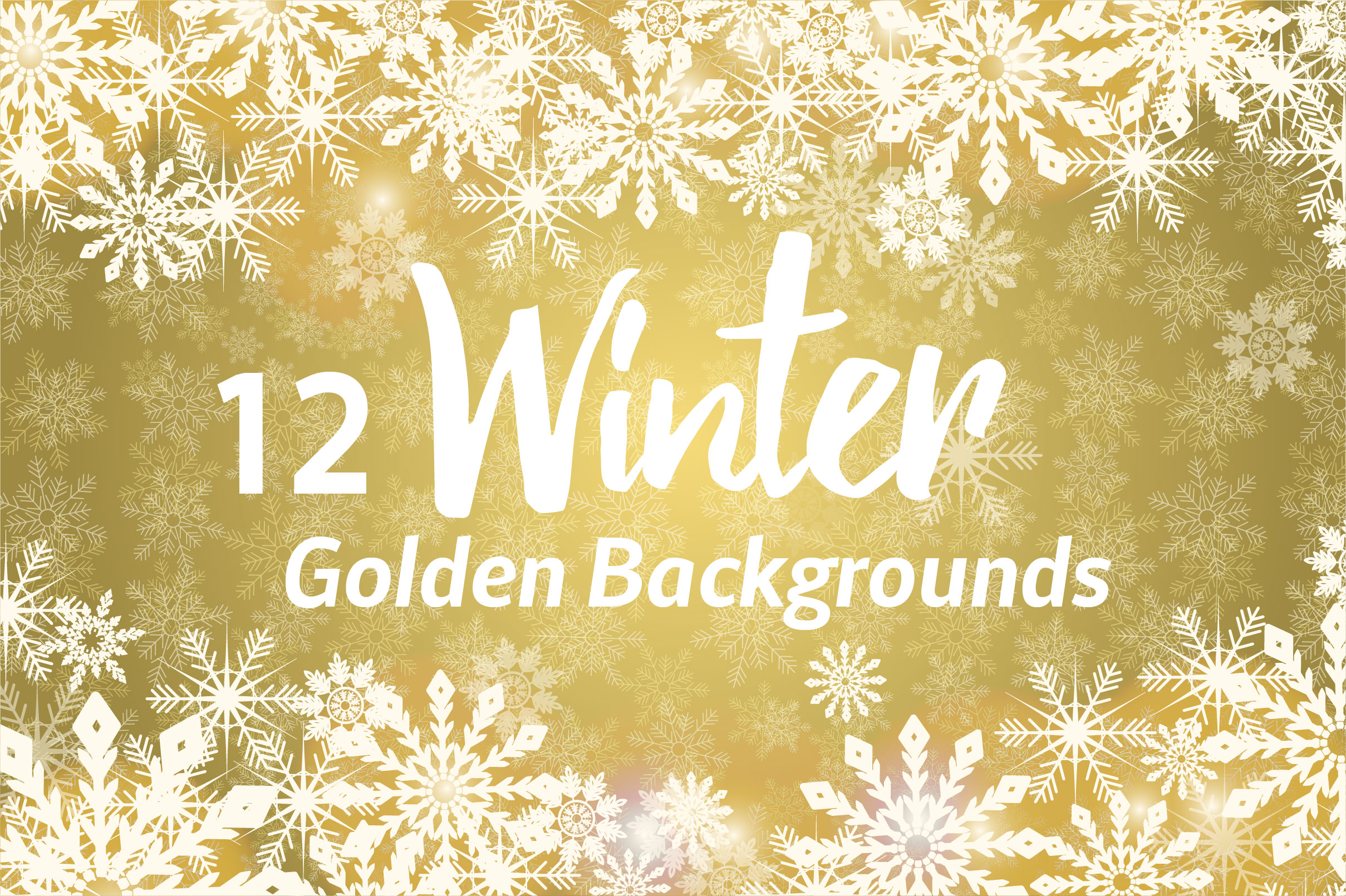 Winter Golden Backgrounds example image 2