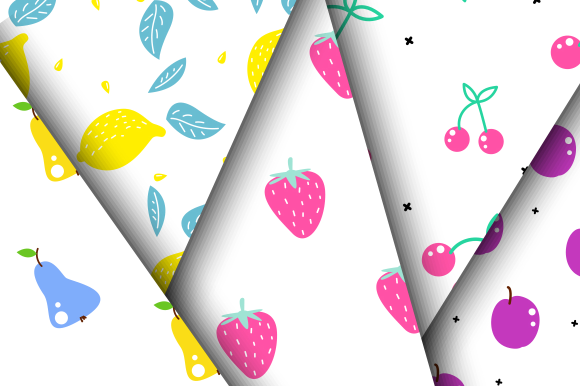 Fresh Fruits - Seamless Patterns example image 4