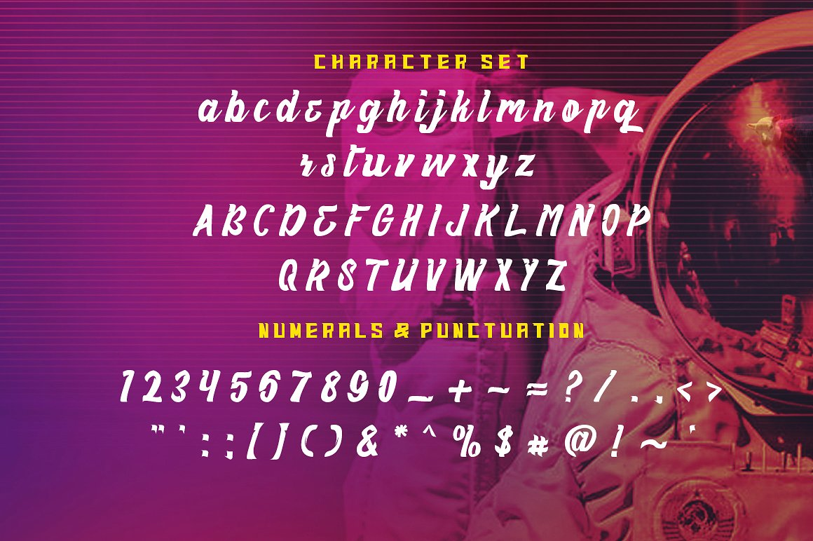 Haynthams Spacescript Font 2 in 1 example image 5