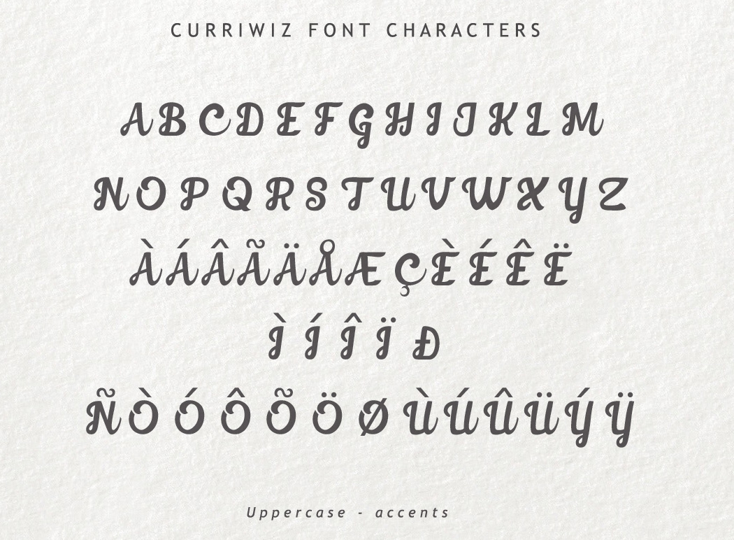 Curriwiz Font example image 5