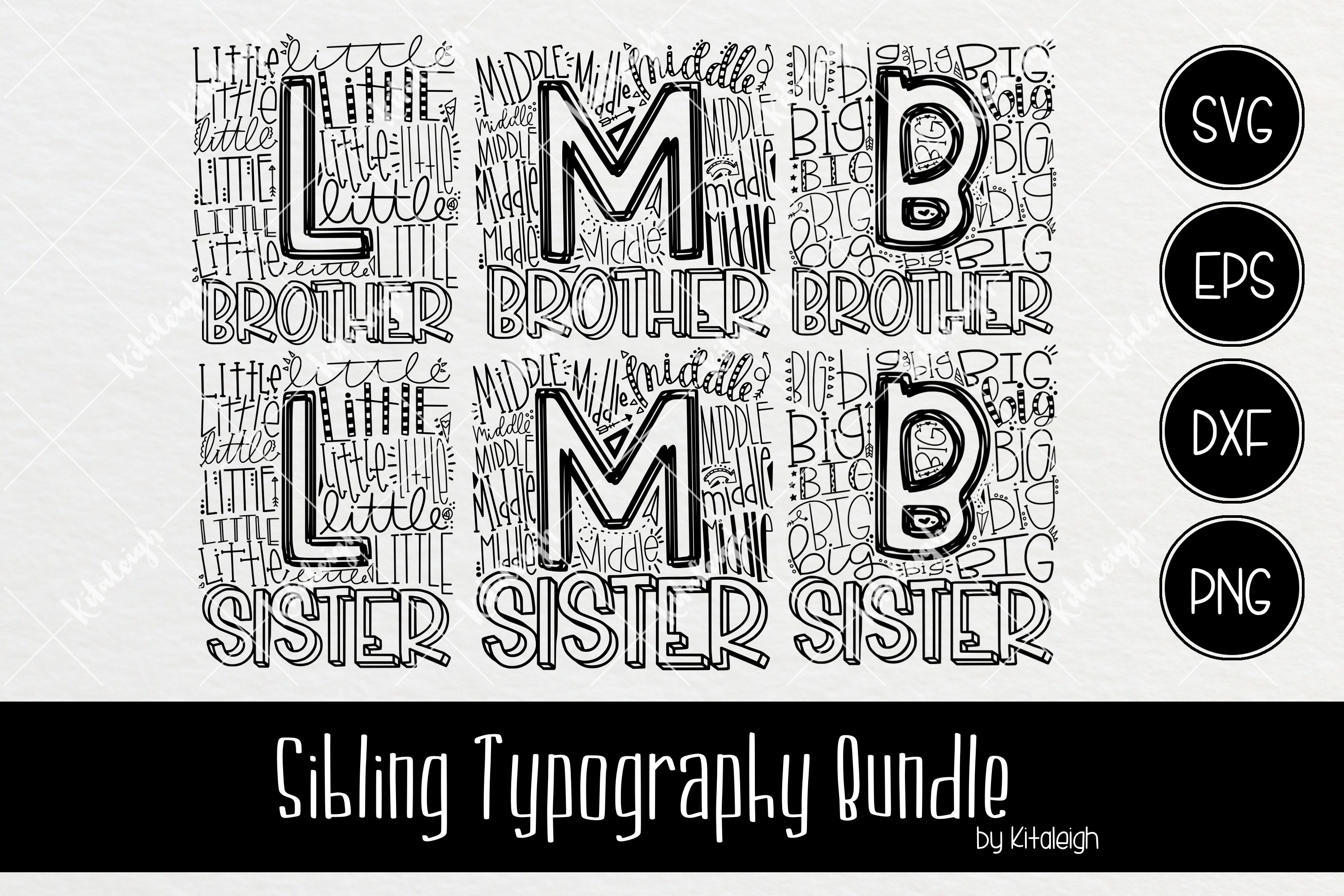 Sibling Typography Bundle example image 2