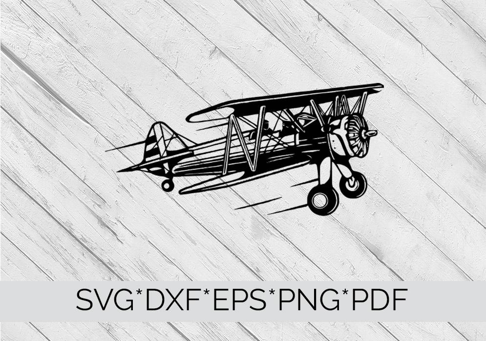 Vintage Aeroplane / Airplane  SVG Cutting File  example image 4