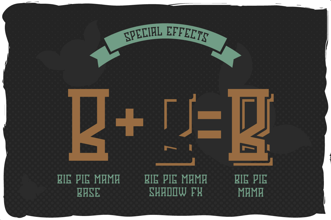 Big Pig Mama typeface illustration example image 4
