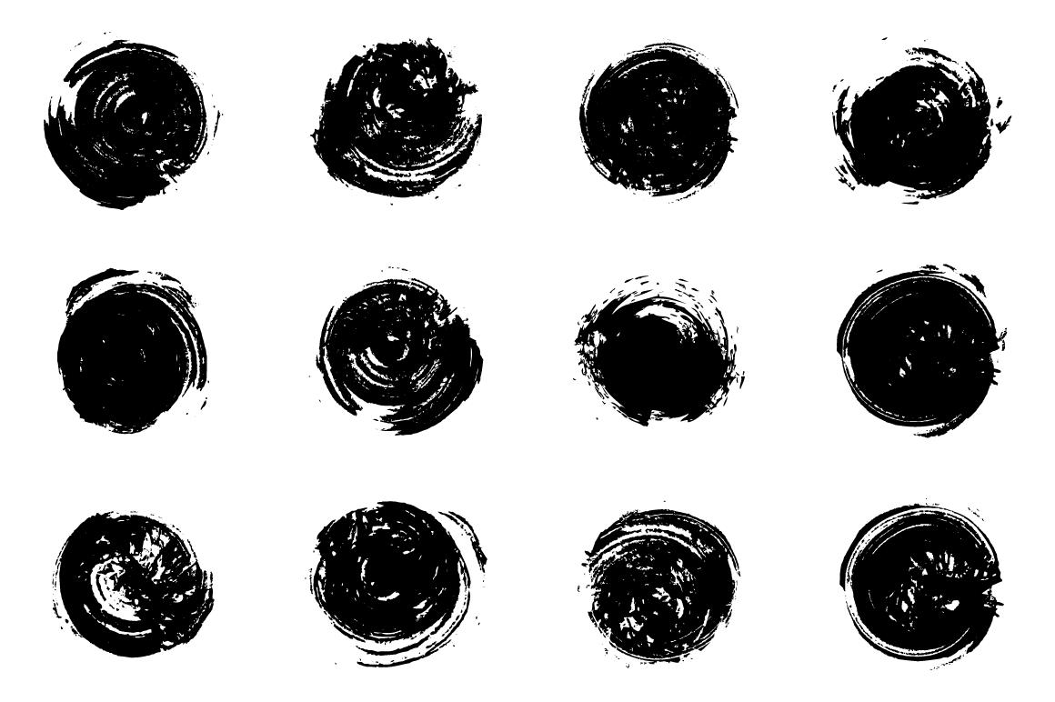 24 Grungy Circles example image 2