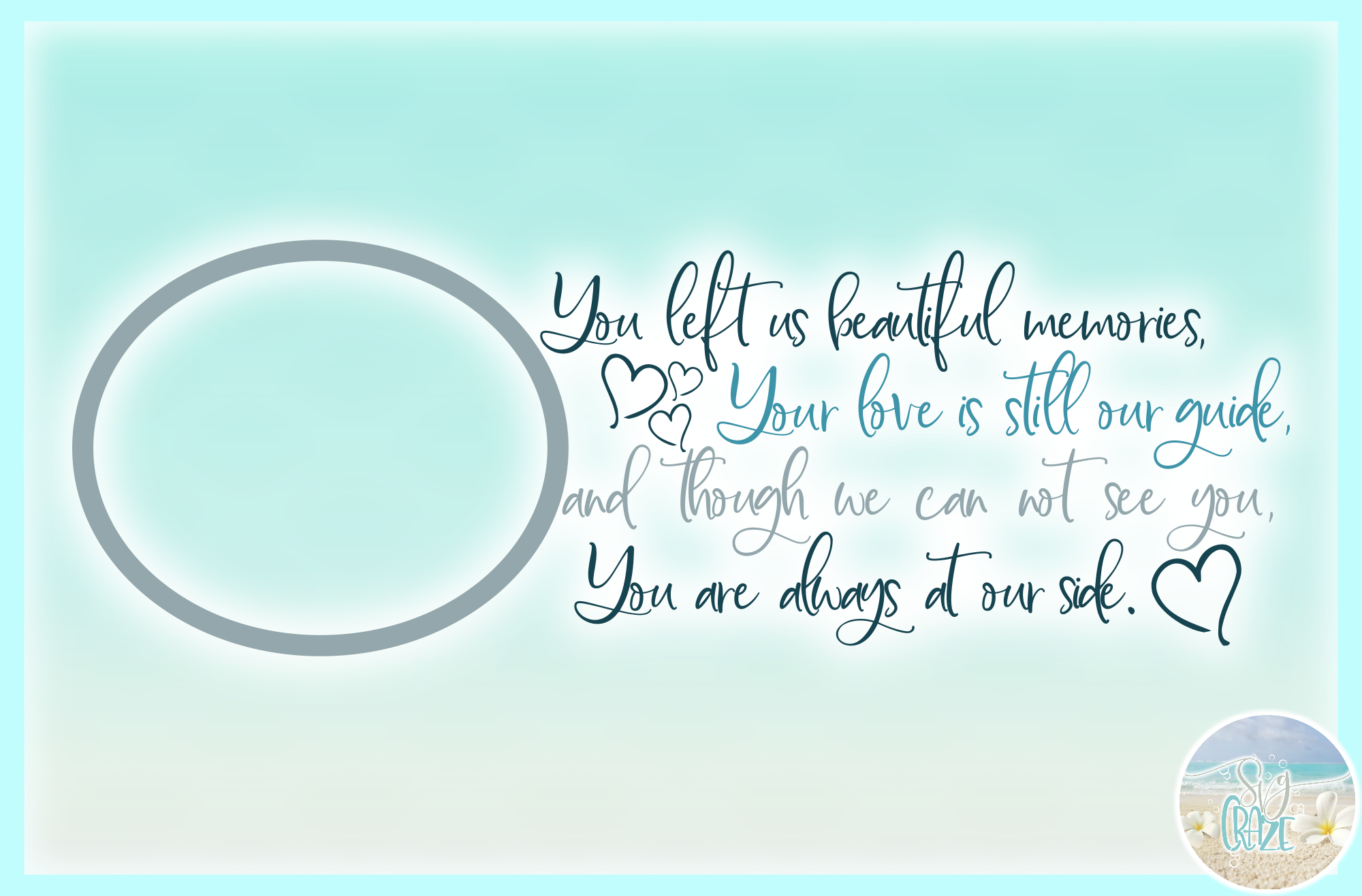 Your Life Gave Us Beautiful Memories Always At Our Side SVG example image 3