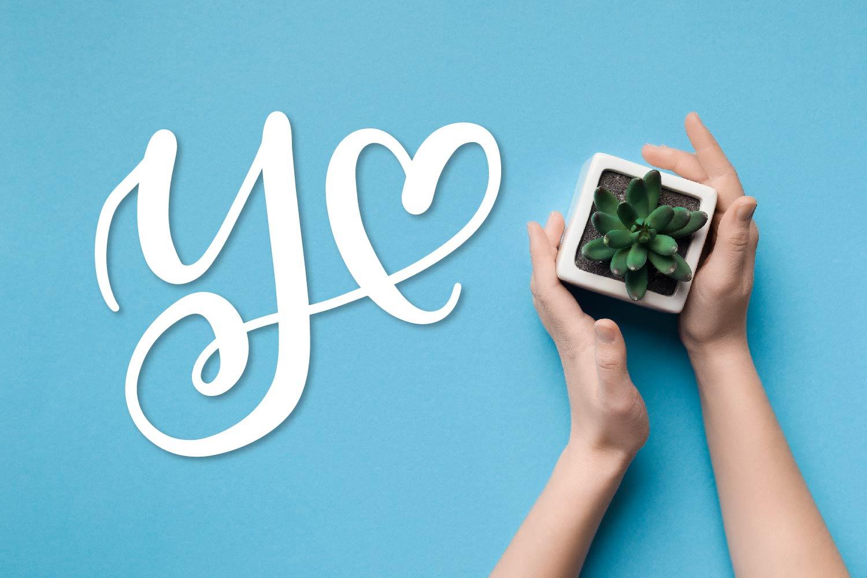 Heart Monogram Font - With Bonus Frame Font! example image 9