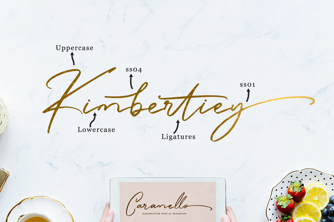 Caramello - Handwritting Script Font example image 5
