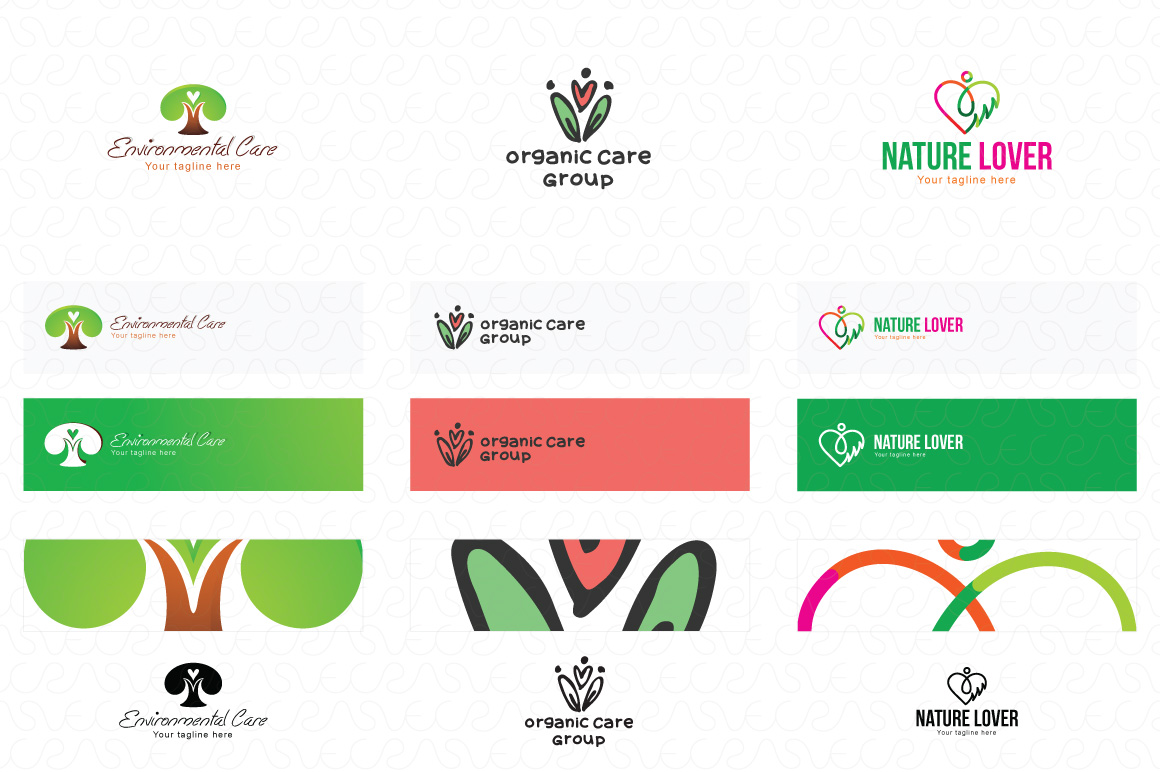 Heart Shape & Love Symbol Logo Templates Pack of 32 example image 7
