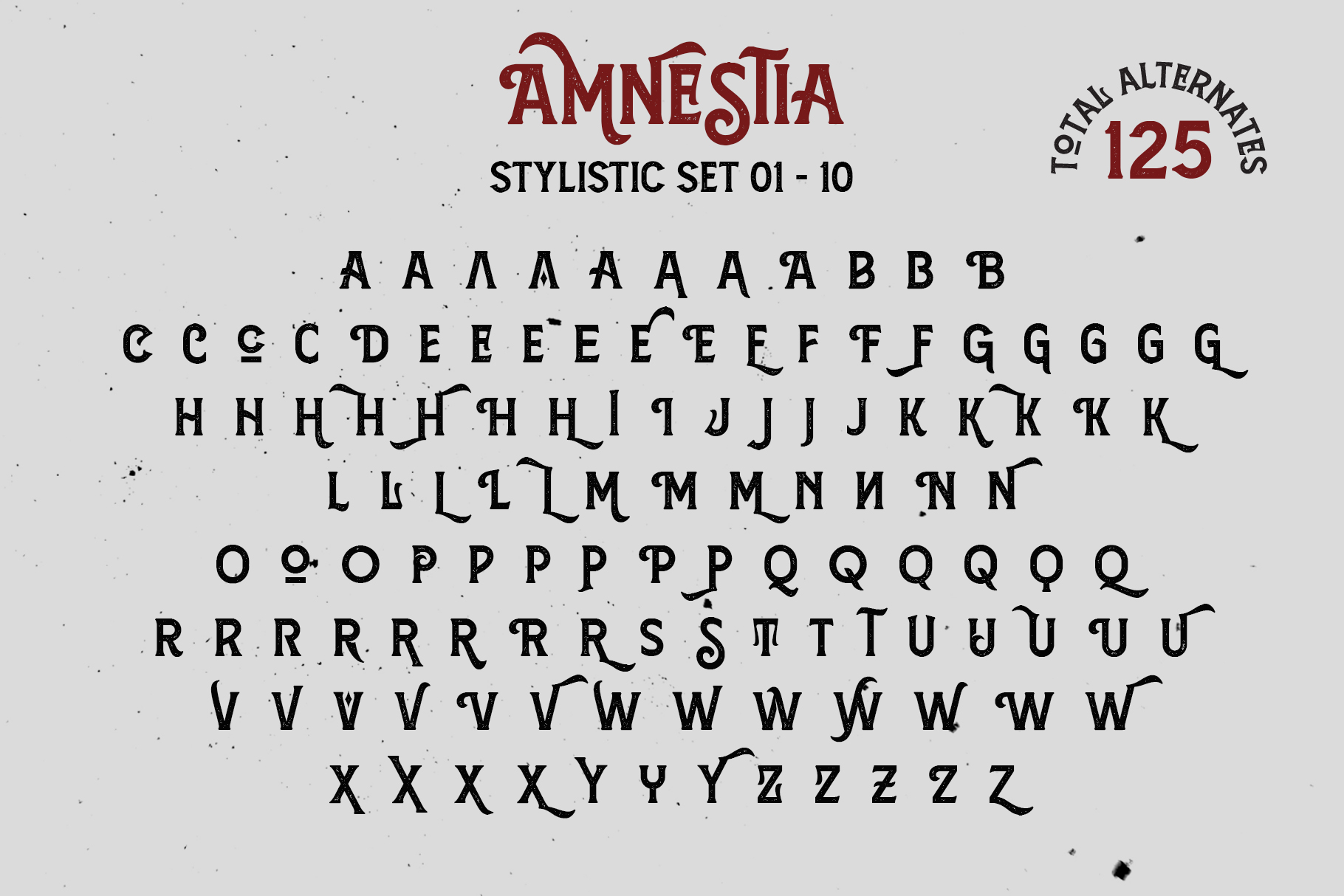 Amnestia Typeface with Extra example image 15