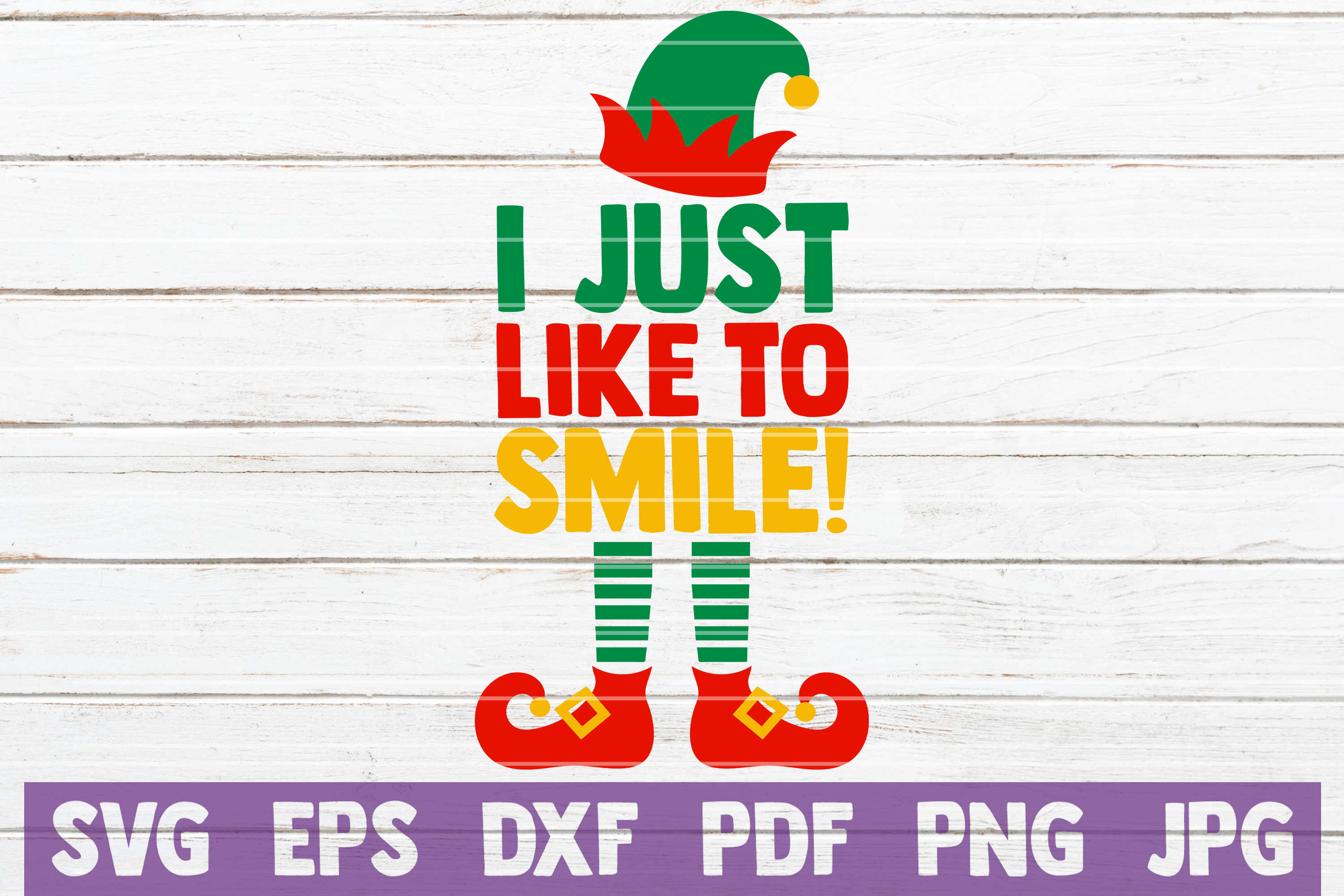 I Just Like To Smile! SVG Cut File example image 1