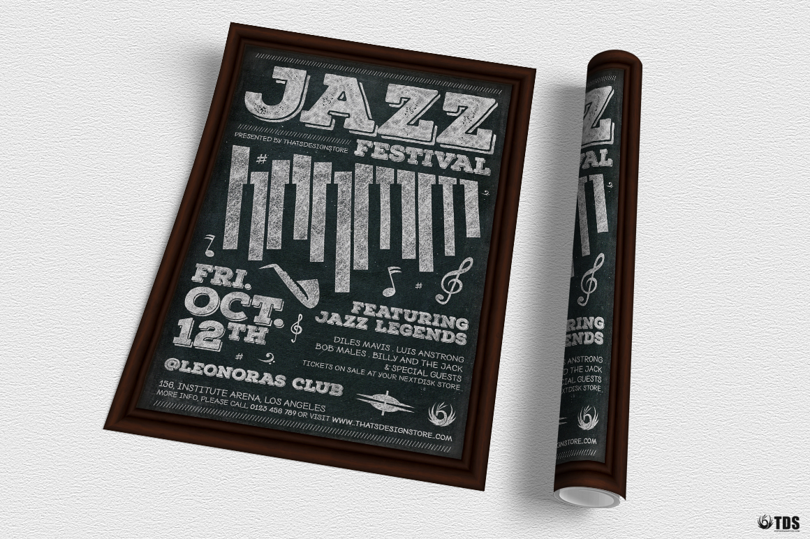 Jazz Festival Flyer Template V7 example image 3